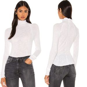 NWT Free People Make It Easy Thermal Top White